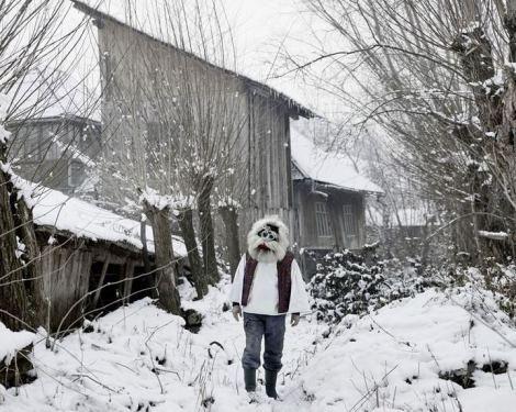 Tamas Dezso, Vasile in Mask, Sacel, Maramures, North Romania, 2012