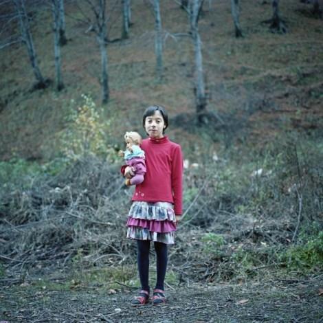 Ioana Cirlig, Angi with a doll, Aninoasa, Hunedoara, Post-Industrial Stories