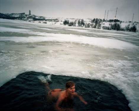 Yola Monakhov Stockton, Natalya in Water, Murmansk, 2007, from Once Our of Nature: Travels through Russia (2003 - 2007)