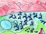 Ikuru Kuwajima, A School for Nenets (2014) - drawing